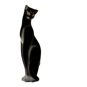 Керамическая копилка кошки Багира черная