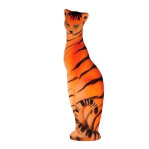 Керамическая копилка кошки Багира тигровая