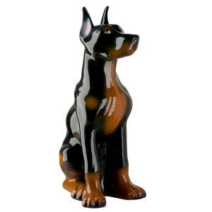 Керамическая Копилка Собаки Доберман глянец