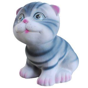 Керамическая копилка Котика Маленького полосатый