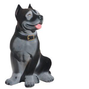 Керамическая копилка собаки Стаф черный флок