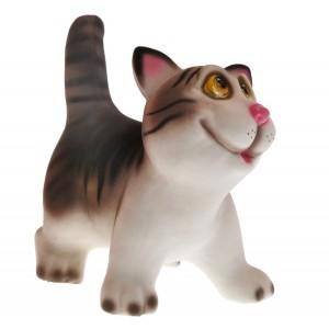 Керамическая копилка котика Ясик серый