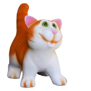 Керамическая копилка котика Ясик рыжий