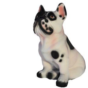 Керамическая копилка собаки Французского бульдога белого цвета