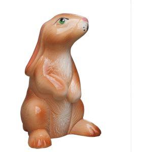 Садовая Керамическая Фигурка Кролик бежевый глянец