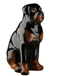 Садовая фигурка собаки Ротвейлер