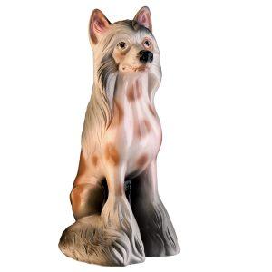 Керамическая копилка собаки Китайская Хохлатая глянец
