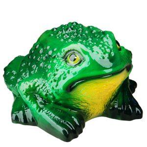 Садовая фигура Жаба большая зеленая