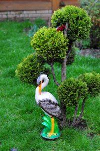 Садово парковая статуэтка Цапля