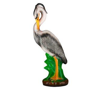 Садовая керамическая фигура Цапля