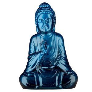 Керамическая Статуэтка Будда синий металлик