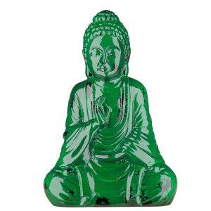 Керамическая Статуэтка Будда зеленый под мрамор
