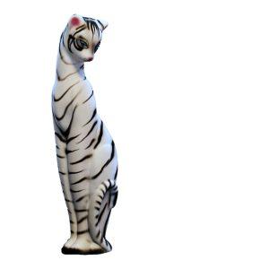 Керамическая копилка кошки Багира белый тигр