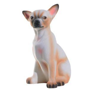 Керамическая копилка собаки Чихуа белая флок