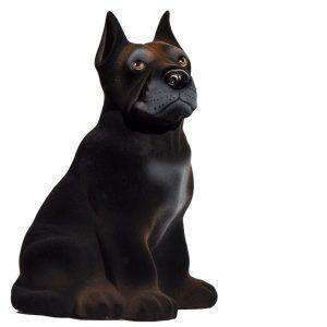 Керамическая копилка собаки - Дог черный флок