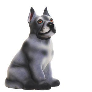 Керамическая копилка собаки Дог серый флок