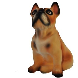 Керамическая копилка собаки породы Французский бульдог бежевого цвета