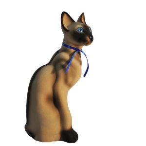 Керамическая Копилка Кошки Сиам бежевый