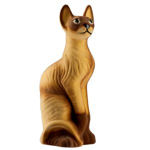Копилка кошки Сфинкс бежевый флок