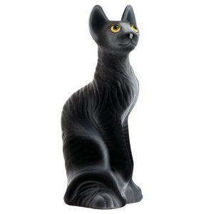 Керамическая копилка черной кошки Сфинкс