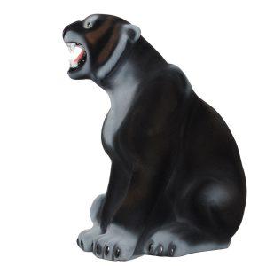 Керамическая копилка Пантера черн флок