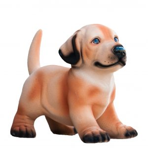 Керамическая Копилка собачка Риччи бежевый флок