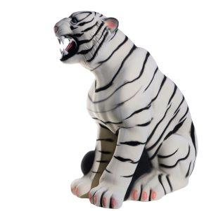 Керамическая копилка Тигр белый флок
