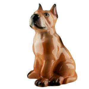 Керамическая Копилка собака Дог бежевый глянец