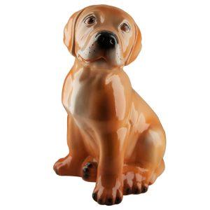 Керамическая Копилка собака Лабрадор бежевый глянец