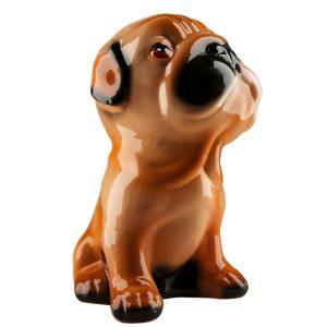 Керамическая Копилка собака Шурик бежевый глянец