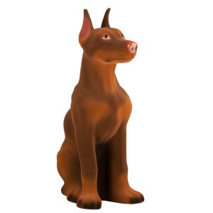 Керамическая Копилка Доберман шоколадный флок