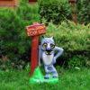 Садовая фигура Волк с табличкой купить интернет