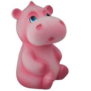 Детская Копилочка Бегемотик розовый флок