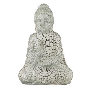 Керамическая Статуэтка Будда белый кракелюр