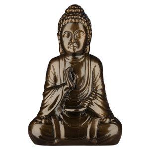Керамическая Статуэтка Будда черный металлик