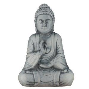 Керамическая Статуэтка Будда серый под камень