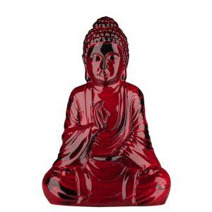 Керамическая Статуэтка Будда красный под мрамор