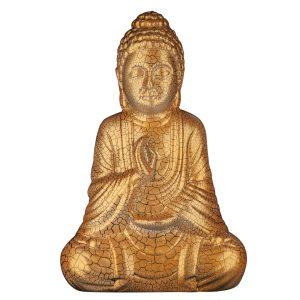 Керамическая Статуэтка Будда золотой кракелюр