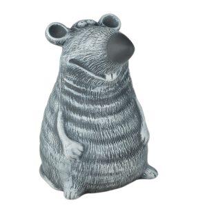 Керамічна скарбничка пацюк Доцент сірий під камінь