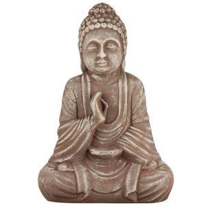 Керамическая статуэтка Будда коричневый под камень