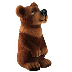 Керамічна скарбничка бурий Ведмідь флок