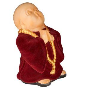 Керамический сувенир Монах флок бордо