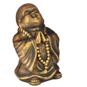Керамический сувенир Монах под бронзу