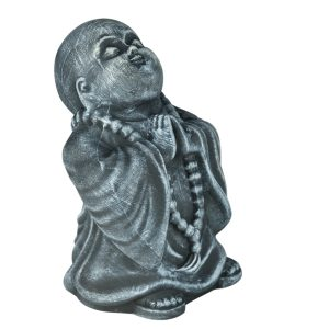 Керамический сувенир Монах под камень серый