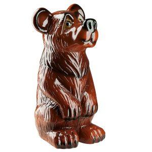 Керамическая садовая фигура Медведь глянец
