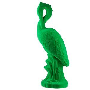 Зеленая садовая фигура Цапля флок