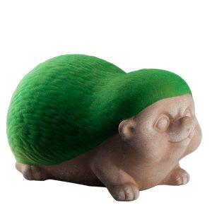 Зеленая садовая фигура Ежик флок