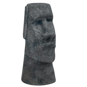 Истукан из керамики Моаи под старый серый камень
