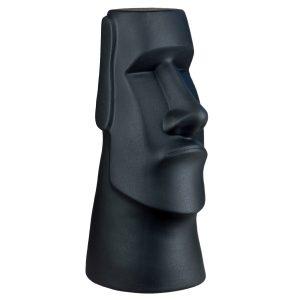 Истукан керамический Моаи черный матовый