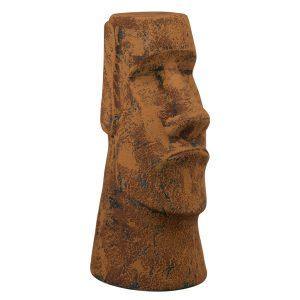 Истукан Моаи под старый рыжий камень